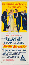 "Movie Posters:Musical, High Society (MGM, 1957). Australian Daybill (13.5"" X 30""). Musical.. ..."