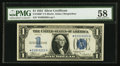 Fr. 1606* $1 1934 Silver Certificate Star Note. PMG Choice About Uncirculated 58