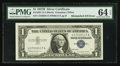 Error Notes:Mismatched Serial Numbers, Fr. 1621 $1 1957B Silver Certificate. PMG Choice Uncirculated 64 EPQ.. ...