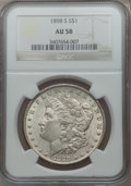 Morgan Dollars: , 1898-S $1 AU58 NGC. NGC Census: (311/1880). PCGS Population(285/3446). Mintage: 4,102,000. Numismedia Wsl. Price for probl...