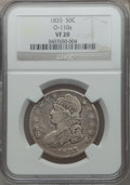 Bust Half Dollars: , 1833 50C VF20 NGC. O-110a. NGC Census: (11/1373). PCGS Population(12/1535). Mintage: 5,206,000. Numismedia Wsl. Price for...
