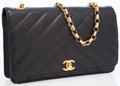 Luxury Accessories:Accessories, Chanel Black Quilted Caviar Leather Flap Bag with Gold Hardware. ...