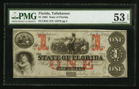 Tallahassee, FL- The State of Florida $1 Jan. 1, 1864 Cr. 41