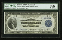Fr. 721 $1 1918 Federal Reserve Bank Note PMG Choice About Unc 58