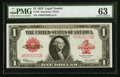 Large Size:Legal Tender Notes, Fr. 40 $1 1923 Legal Tender PMG Choice Uncirculated 63.. ...