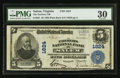 National Bank Notes:Virginia, Salem, VA - $5 1902 Plain Back Fr. 601 The Farmers NB Ch. # 1824....