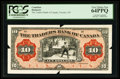 Canadian Currency: , Toronto, ON- The Traders Bank of Canada $10 Jan. 2, 1909 Face ProofCh. # 720-16-04FP. ...