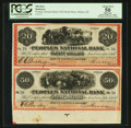 Obsoletes By State:Montana, Helena, MT- The Peoples National Bank $20-$50 Uncut Pair Remainder. ...
