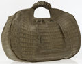 Luxury Accessories:Bags, Nancy Gonzalez Green Caiman Crocodile Tote Bag with BraidedHandles. ...