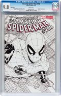 Modern Age (1980-Present):Superhero, The Amazing Spider-Man #700 Sketch Cover Variant (Marvel, 2013) CGCNM/MT 9.8 White pages....