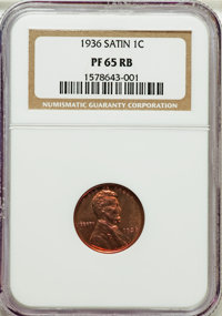 1936 1C Type One -- Satin Finish PR65 Red and Brown NGC....(PCGS# 3331)