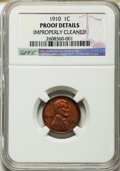1910 1C -- Improperly Cleaned -- NGC Details. Proof. NGC Census: (0/71). PCGS Population (0/88). Mintage: 4,118. Numisme...