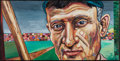 Baseball Collectibles:Others, Honus Wagner Original Oil Painting. ...