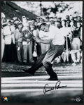 "Autographs:Photos, Arnold Palmer Signed ""Upper Deck Authenticated"" OversizedPhotograph...."