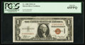 Small Size:World War II Emergency Notes, Low Serial Number C00003082C Fr. 2300 $1 1935A Hawaii Silver Certificate. PCGS Gem New 65PPQ.. ...