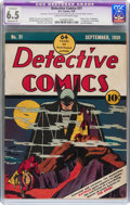 Golden Age (1938-1955):Superhero, Detective Comics #31 (DC, 1939) CGC Apparent FN+ 6.5 Moderate (P) Cream to off-white pages....