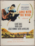 "Movie Posters:Academy Award Winners, Gone with the Wind (MGM, R-1961). Poster (30"" X 40""). Academy AwardWinners.. ..."