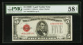 Small Size:Legal Tender Notes, Fr. 1530* $5 1928E Legal Tender Note. PMG Choice About Uncirculated 58 EPQ.. ...