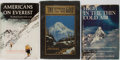 Books:Travels & Voyages, [Mount Everest]. Group of Books About Mountain Climbing, Including Two About Everest. Various Publishers, [1910, 1962-1964].... (Total: 3 Items)