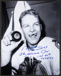 Hockey Collectibles:Photos, Bobby Hull and Brian Leetch Signed Oversized Photographs Lot of2....