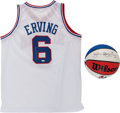 Basketball Collectibles:Others, Julius Dr. J Erving Signed Basketball and Jersey....