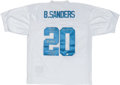 Football Collectibles:Uniforms, Barry Sanders Signed and Inscribed Detroit Lions Jersey....