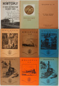 Books:Periodicals, [Trains]. Group of Nine Volumes on Locomotive History. Includesseven issues of The Railway and Locomotive Historical Societ...(Total: 9 Items)