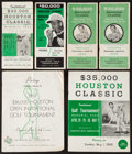 Golf Collectibles:Autographs, 1957-63 Houston Classic Golf Tournament Pairing Booklets Lot of 6 -With Four Multi Signed. ...