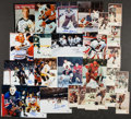Hockey Collectibles:Photos, Hockey Legends Signed and Unsigned Photographs Lot of 28....