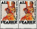 "Movie Posters:Sports, Ali vs. Frazier, The ""Thrilla in Manila"" (Don King Productions, 1975). Closed Circuit Showing Window Cards (4) (14"" X 22""). ... (Total: 4 Items)"