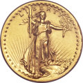 High Relief Double Eagles, 1907 $20 High Relief, Wire Rim AU50 PCGS....