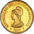 Brazil: Republic gold 20000 Reis 1909