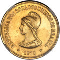 Brazil: Republic gold 20000 Reis 1910