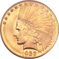 Indian Eagles, 1932 $10 MS66 PCGS. CAC....