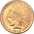 Indian Eagles, 1912 $10 MS65 PCGS. CAC....