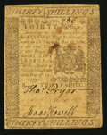 Colonial Notes:Pennsylvania, Pennsylvania July 20, 1775 30s Fine.. ...