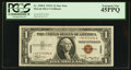 Small Size:World War II Emergency Notes, Fr. 2300* $1 1935A Hawaii Silver Certificate. PCGS Extremely Fine 45PPQ.. ...