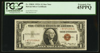 Fr. 2300* $1 1935A Hawaii Silver Certificate. PCGS Extremely Fine 45PPQ