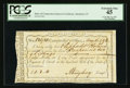 Colonial Notes:Connecticut, Connecticut Interest Payment Certificate. May 16, 1792. CutCancelled. PCGS Extremely Fine 45.. ...