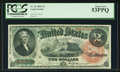 Large Size:Legal Tender Notes, Fr. 42 $2 1869 Legal Tender PCGS About New 53PPQ.. ...