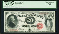 Fr. 147 $20 1880 Legal Tender PCGS Choice About New 58