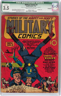 Golden Age (1938-1955):War, Military Comics #4 (Quality, 1941) CGC Qualified VG- 3.5 Cream tooff-white pages....