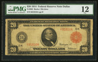 Fr. 962 $20 1914 Red Seal Federal Reserve Note PMG Fine 12
