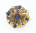 Estate Jewelry:Brooches - Pins, Victorian Diamond, Sapphire, Cultured Pearl, Gold, Silver Brooch....