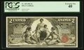 Large Size:Silver Certificates, Fr. 248 $2 1896 Silver Certificate PCGS Extremely Fine 40.. ...