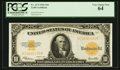 Large Size:Gold Certificates, Fr. 1173 $10 1922 Gold Certificate PCGS Very Choice New 64.. ...