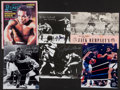 Boxing Collectibles:Autographs, Boxing Legends Signed Photographs, Etc. Lot of 5....