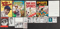 Baseball Collectibles:Others, Baseball Memorabilia Lot, With Four Vintage Sports Comic Books -With Vintage Willie Mays Signature....