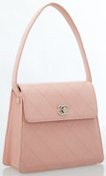 Luxury Accessories:Accessories, Chanel Pink Quilted Leather Tote Bag. ...