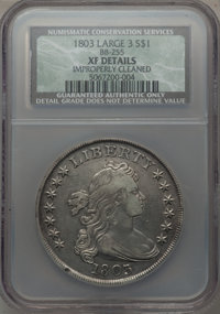 1803 $1 Large 3 -- Improperly Cleaned -- NCS. XF Details. B-6, BB-255, R.2....(PCGS# 6901)